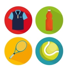Collection elements tennis game vector