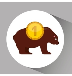 Concept stock exchange market bear sell icon vector
