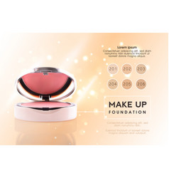 Cosmetic ads 3d cheek blush or make up promotion vector