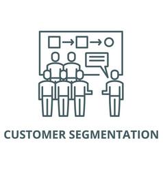 Customer segmentation line icon linear vector