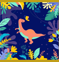 cute dinosaur background vector image