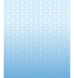 Dashed line pattern wave simple on gradient blue vector