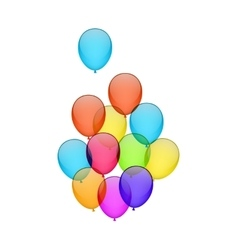 Flying colorful balloons vector