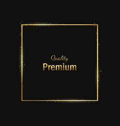 Frame-empty-gold-black-one vector