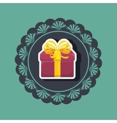 Gift present box ribbon vector