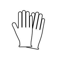 Gloves icon image vector
