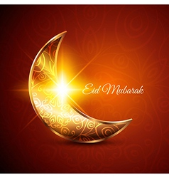 Golden moon for muslim community festival eid vector