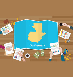 Guatemala economy country growth nation team vector