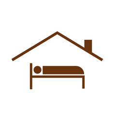 Guest house symbol vector