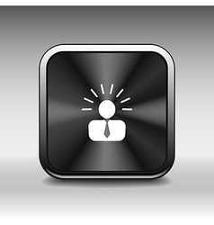 icon suggestion idea concept lightbulb people pers vector image