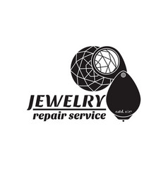 image of logo jewelry service trendy vector image