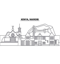 kenya nairobi line skyline vector image