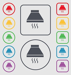Kitchen hood icon sign symbol on the Round and vector image