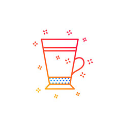 Latte coffee icon hot drink sign vector