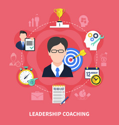 Leadership coaching concept vector