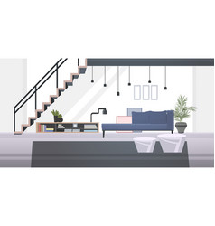 Lounge area or waiting room with sofa book shelf vector