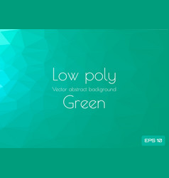 low poly green abstract background geometric vector image