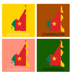 Map of cameroon with the image of the national vector