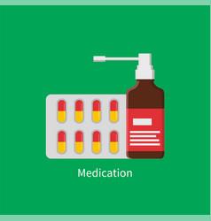medication poster inhaler vector image