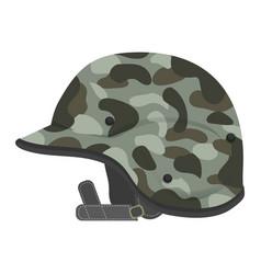 Military helmet design vector