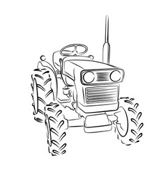 Mini tractor symbol vector