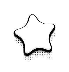 Modern halftone star icon on white vector