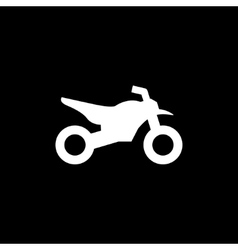 Motocross motorcycle icon vector image
