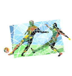 Multicolor footballers vector