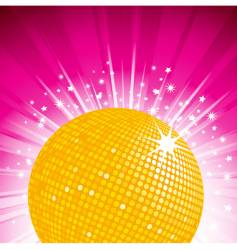 orange disco ball party background vector image