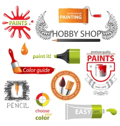 paint emblems vector image