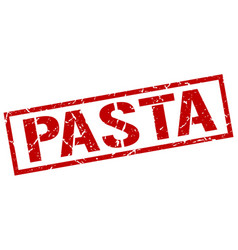 Pasta stamp vector
