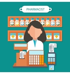 Pharmacist Concept Flat Design vector