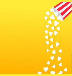 Popcorn falling from round box movie cinema icon vector