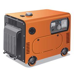 Power generators on wheels vector
