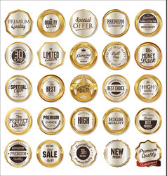 quality golden label collection vector image