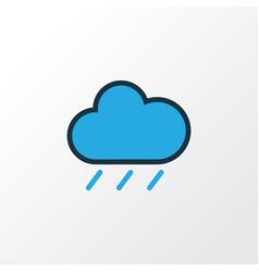 Raindrop colorful outline symbol premium quality vector