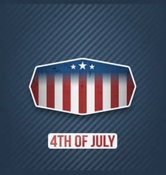 Realistic 4th of july independence day banner vector