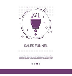 sales funnel analysis concept finance data web vector image