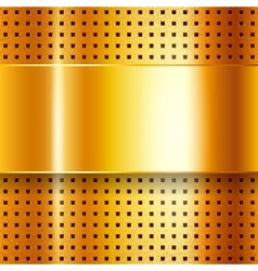 Scratched on gold chrome background vector