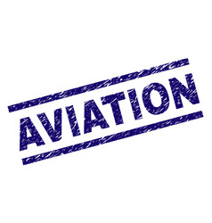 Scratched textured aviation stamp seal vector