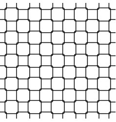 Seamless abstract black and white rounded square vector