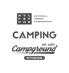 Set of retro camping badges and label logo vector image