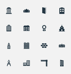 set of simple structure icons vector image
