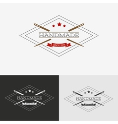 Sewing logo vector