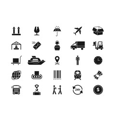Shipping delivery and logistics icons vector
