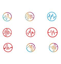 Sound wave ilustration logo icon vector