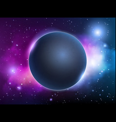 space universe background globe fantasy magic vector image