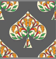 spades pattern vector image