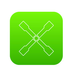 spanner icon green vector image