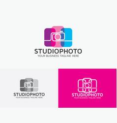 Studio photo logo design vector